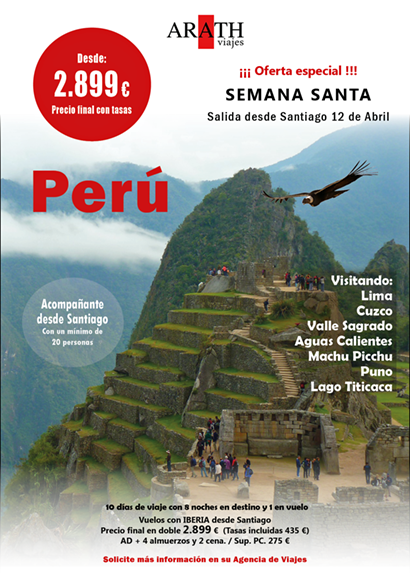 Oferta Perú Semana Santa Salida Galicia